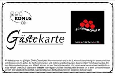 Schwarzwald Konuskarte