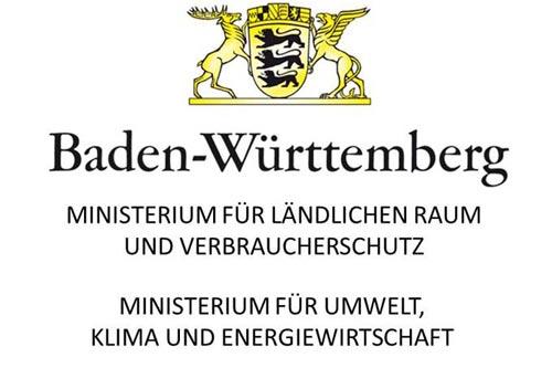 - Kombiniertes Logo des Ministeriums für Ländlichen Raum und Verbraucherschutz Baden-Württemberg und des Ministeriums für Umwelt, Klima und Energiewirtschaft Baden-Württemberg
