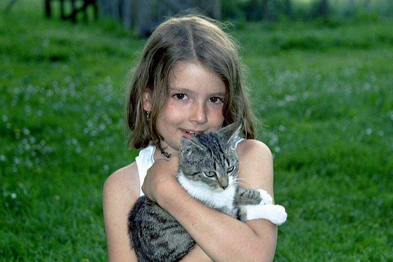Schmusen mit Kätzchen
